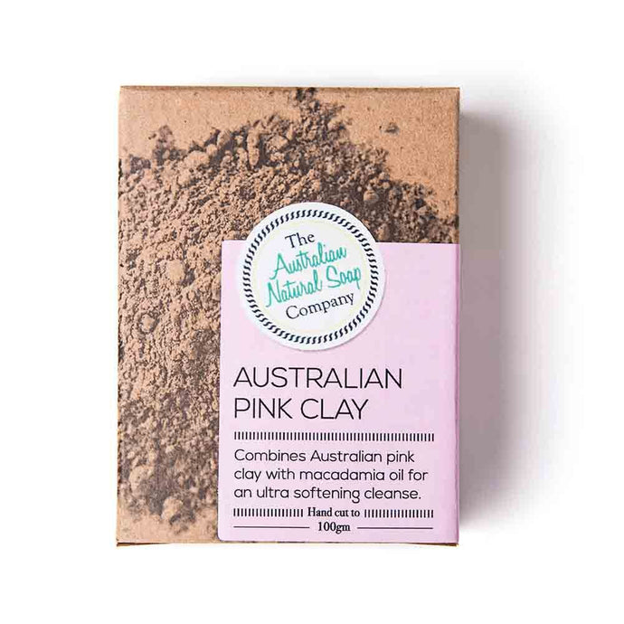 Australian Natural Soap Co Pink Clay Face Soap Bar 100g