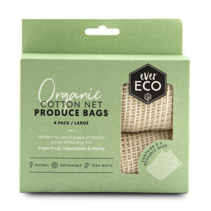 Ever Eco Organic Cotton Net Produce Bags x 4