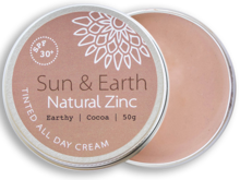 Load image into Gallery viewer, Sun & Earth Natural Zinc Earthy Cocoa + SPF 30