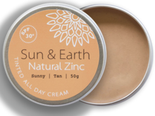 Load image into Gallery viewer, Sun & Earth Natural Zinc Sunny Tan + SPF 30