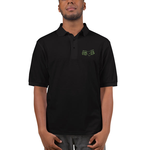 Embroidered Polo-blk w/kiwi
