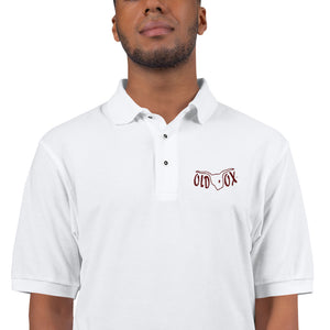 Embroidered Polo-wht w/maroon