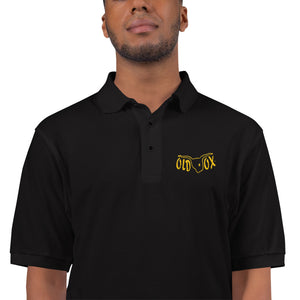 Embroidered Polo-blk w/yellow