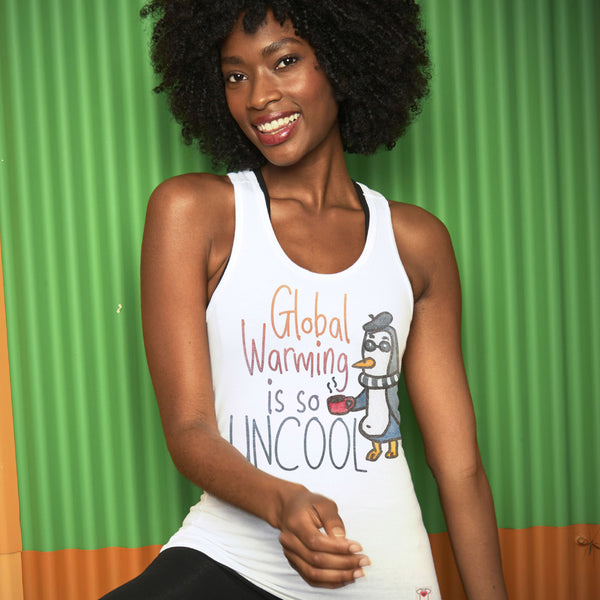Global Warming Uncool Racer Tank