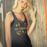 Go Vegan Tank Top Raw Edge