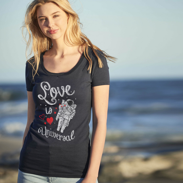 Love Is Universal Scoop Neck