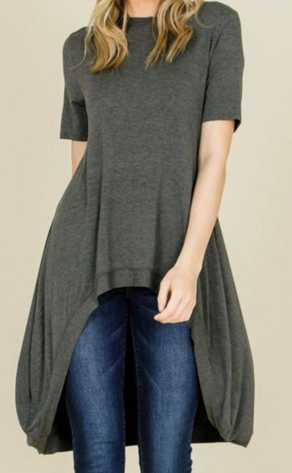 Hi-Lo tunic  perfect pairing with leggings or skirts