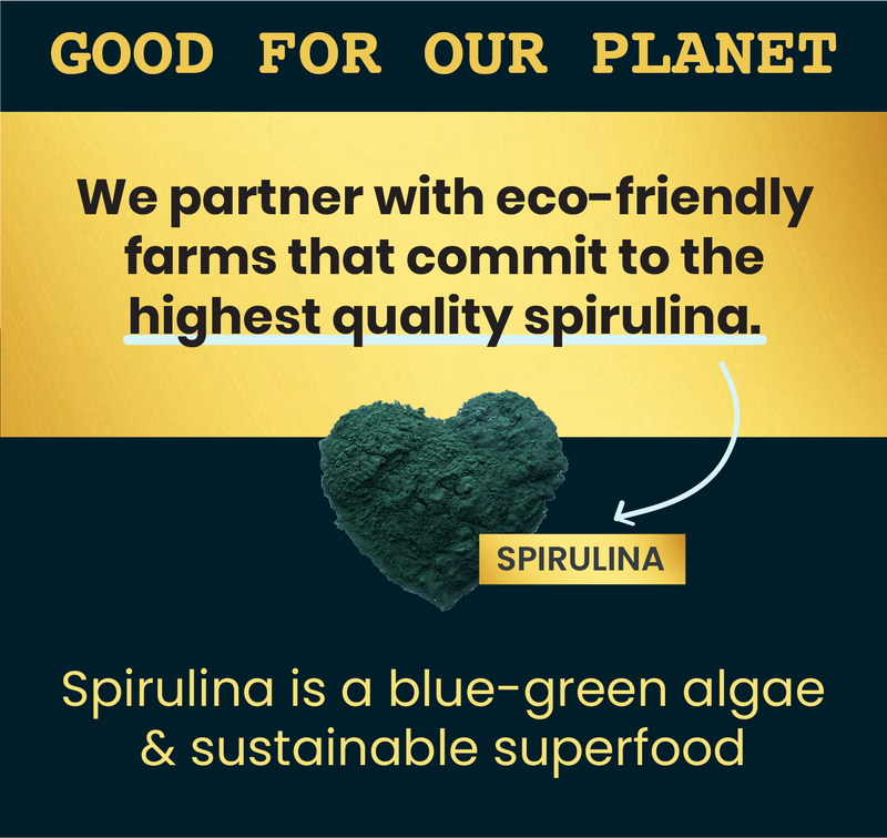 Spirulina Dailies: Kale, Flaxseed & Carrot (3 pack)