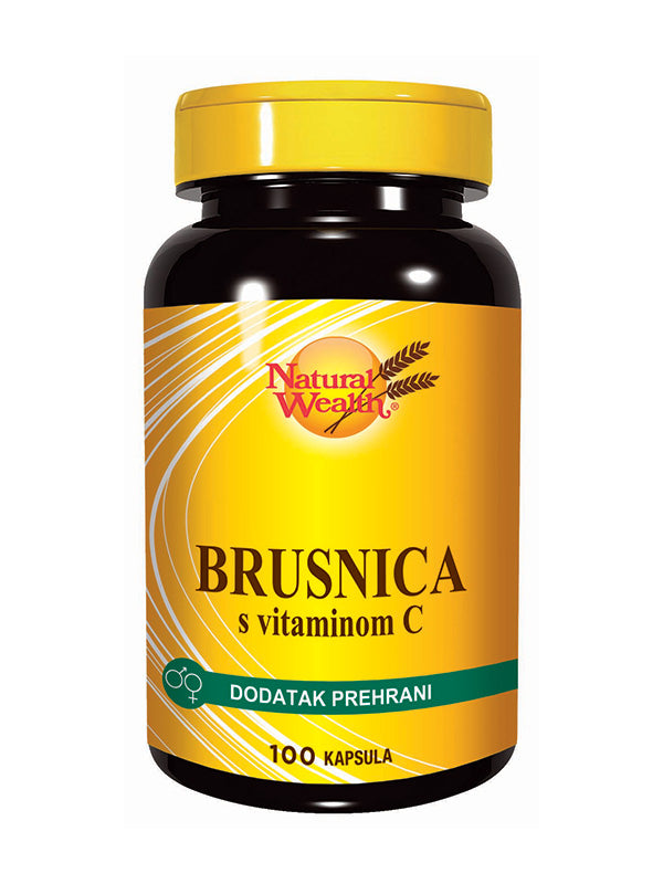 Natural Wealth Brusnica s dodatkom Vitamina C 100 kapsula