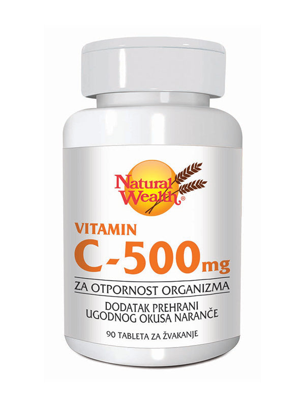 Natural Wealth Vitamin C 500 mg 90 tableta za žvakanje