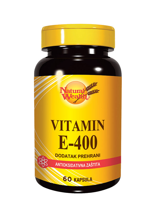 Natural Wealth Vitamin E-400 60 kapsula
