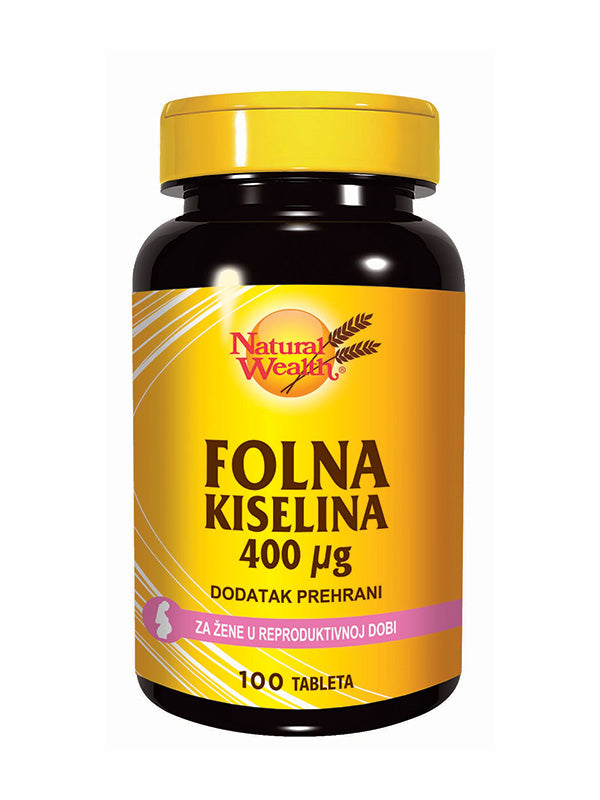 Natural Wealth Folna Kiselina 100 tableta
