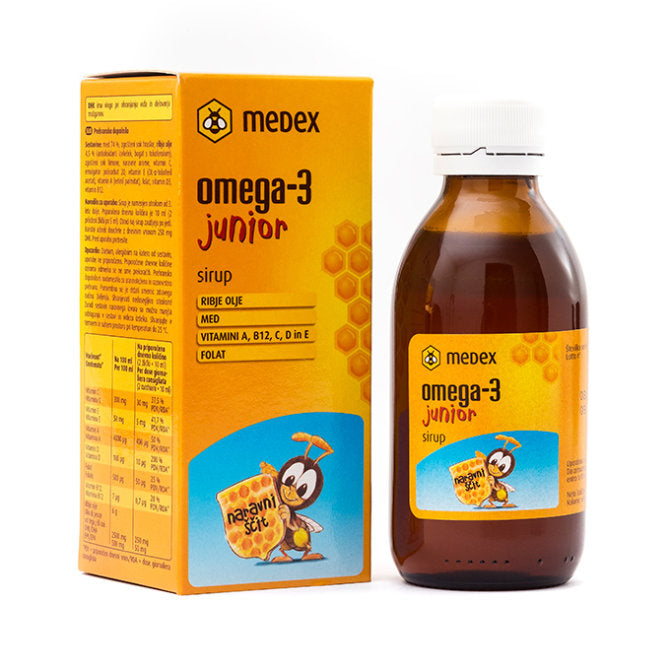 Medex Omega-3 junior sirup 140 ml