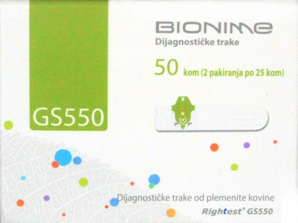Test trake BIONIME GS550 Rightest