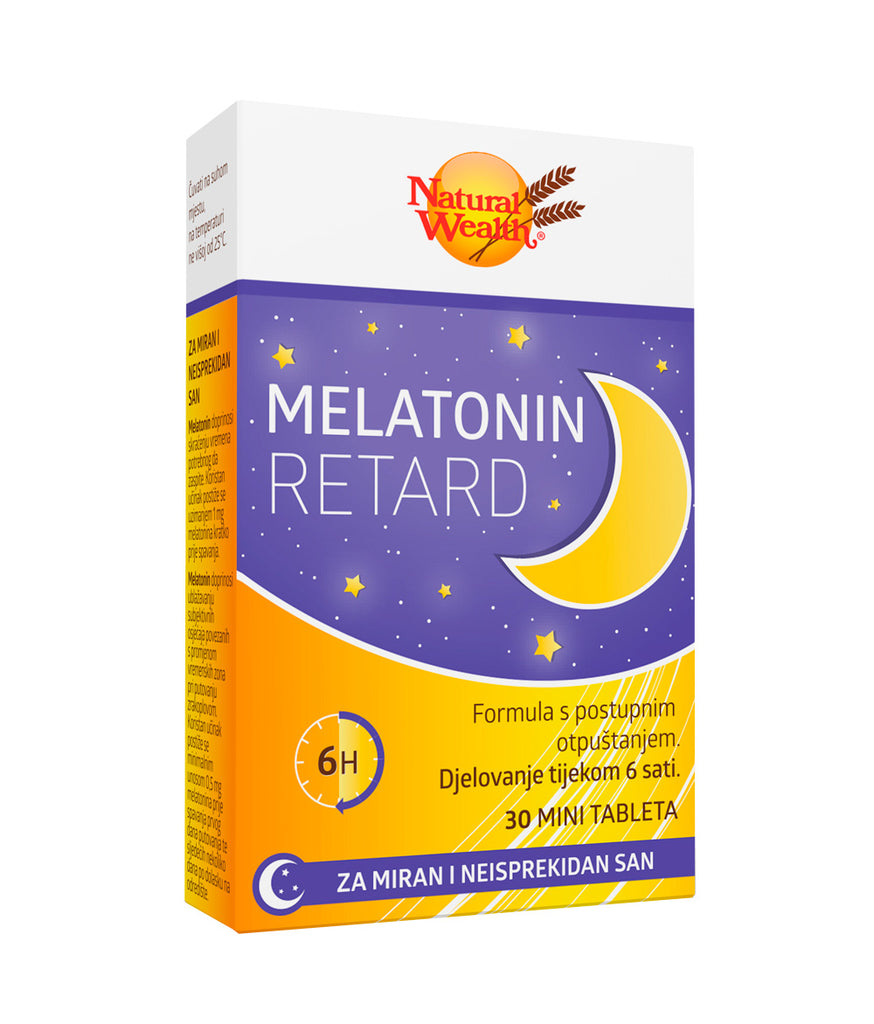 Natural Wealth Melatonin Retard 30 mini tableta
