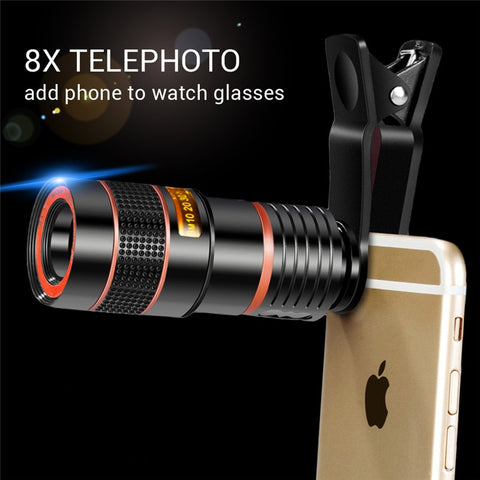 Mobile Telescopic Lens - 8X / 12X Zoom - Gadget Runway