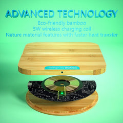 Universal Bamboo Qi Fast Wireless Charger - Gadget Runway
