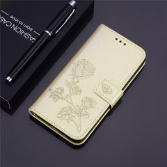 3D Flower Flip leather case on For Samsung