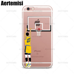 Aertemisi Stephen Curry Derrick Rose Carmelo Anthony Clear TPU Case Cover