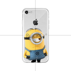 Ruicaica Cute Cartoon Minions Coque Shell Phone Case for Apple