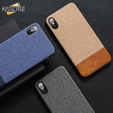 KISSCASE Cloth Leather Case For Samsung Galaxy
