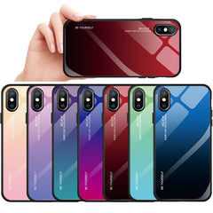 Gradient Colorful Tempered Glass Case for iPhone