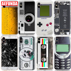 Funny Beer Camera Gameboy Couple Cases