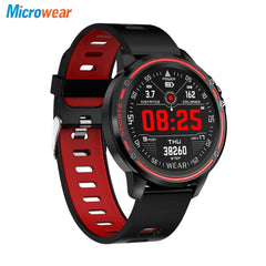 Microwear L8 Full Touch Screen ECG+PPG O2 Monitor IP68 Sports Mode