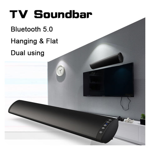 Bluetooth 5.0 FM Soundbar Wireless Speaker 20W Home Theater