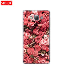 Silicon case for Samsung Galaxy Colorful Flower Rose Peony