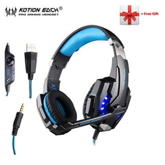 Gamer Earphone Stereo Deep Bass Wired Headset with Mic LED Light for PC PS4 X-BOX