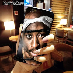 Tupac And Biggie Luxury Quality black silicone soft Phone Case for iPhone