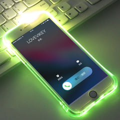 LED Flash TPU Case For iPhone Plus Remind incoming