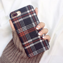 Cloth Texture Soft TPU case For iphone.