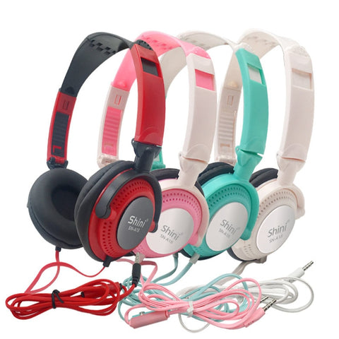 Headphones with Mic Earphones 3.5mm with AUX Foldable
