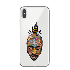 Tupac Amaru Shakur Clear Silicon Soft TPU Phone Cover Case For iPhone