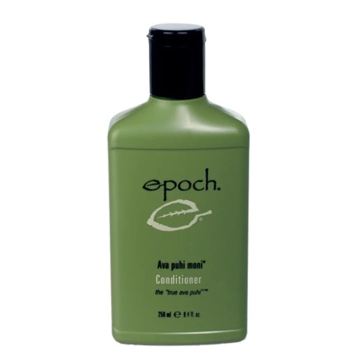 Epoch® Ava puhi moni® Conditioner on model with long hair - at Moxie Beauty Care