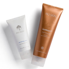 Sunright® Insta Glow by Nu Skin - at Moxie Beauty Care - model shoulders