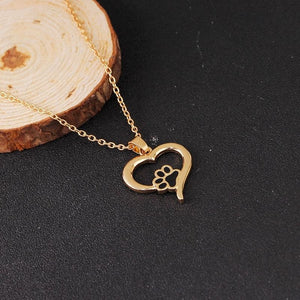 Buy Pet Paw Print Dog Lover Necklace | 17% OFF TODAY