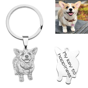 Buy Personalized Dog Photo Necklace/Keychain | 25% OFF Today