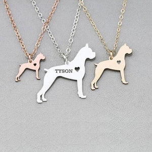 Boxer Dog Necklace