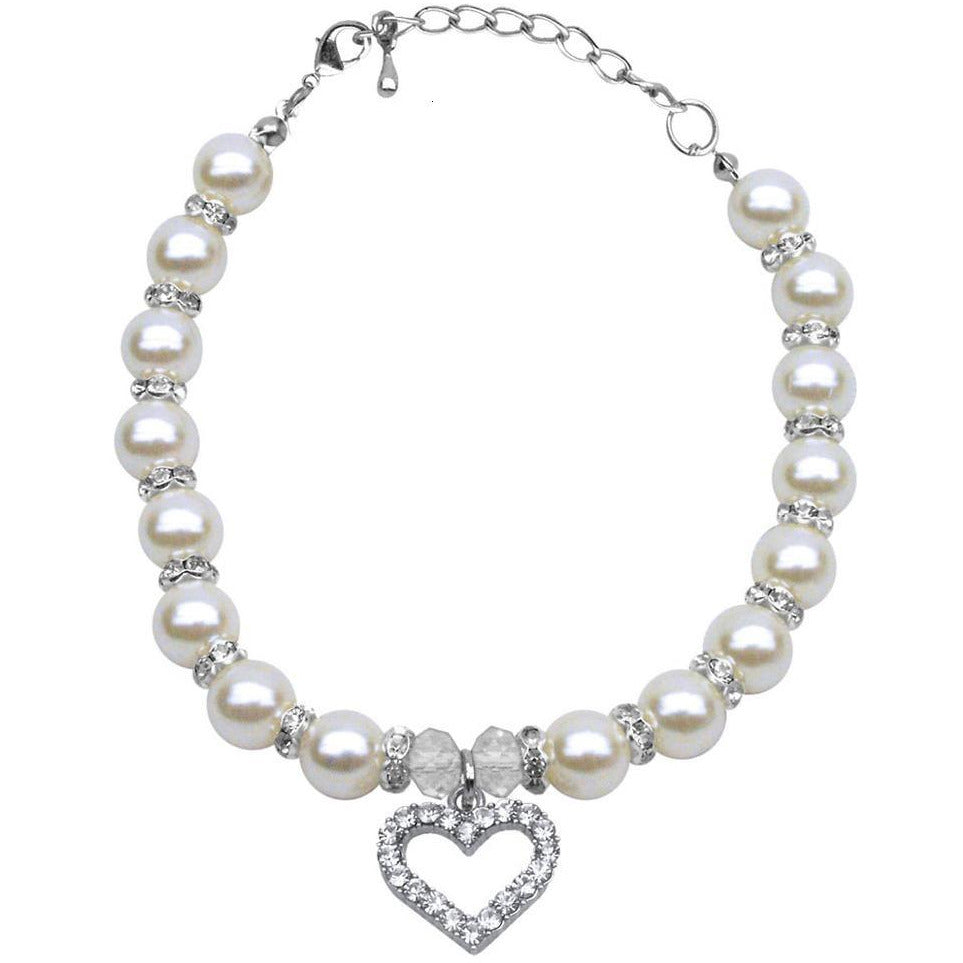 White Dog Pearl Necklace