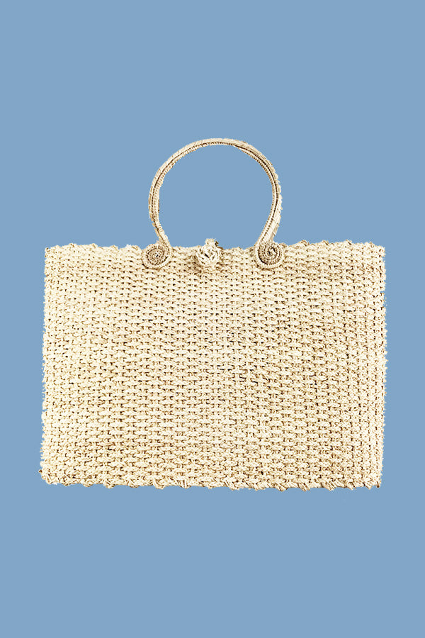 Maxi Palm Tote | Natural