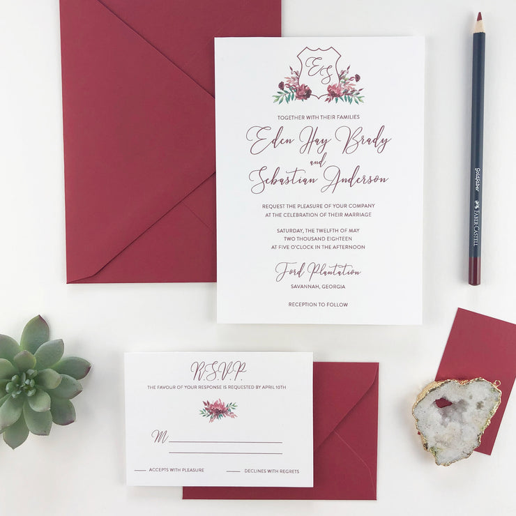 Crest - Wedding Invitation