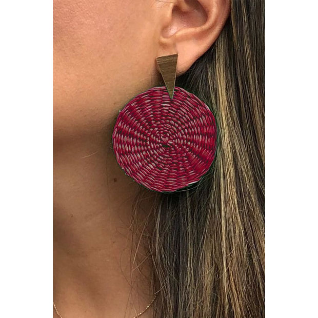 Angel | Palm Earrings - All Colors - DARKRED