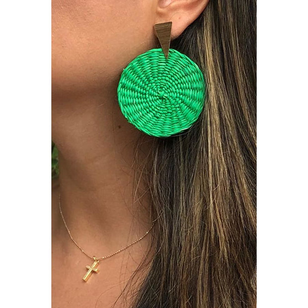 Angel | Palm Earrings - All Colors - GREEN