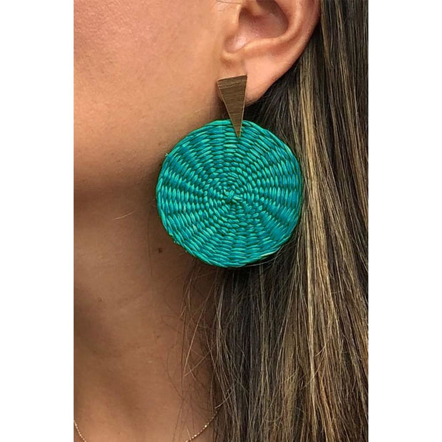 Angel | Palm Earrings - All Colors - TEAL