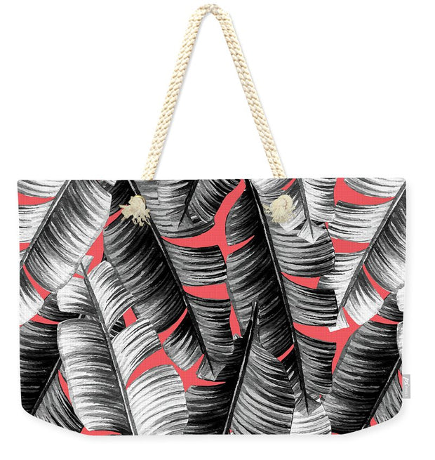 Banana Leaves Coral - Weekender