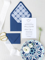 Blue Tiles - Envelope Liner