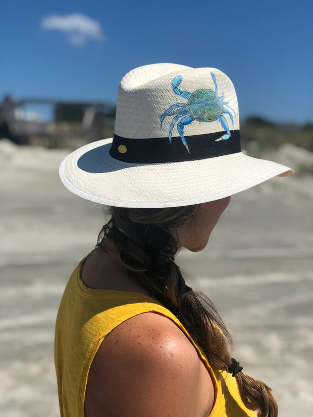 Blue Crab | Hand Painted Hat